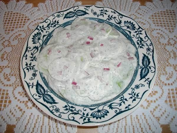 Creamy Dill Cucumbers Recipe
