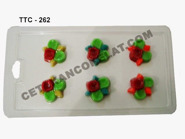 Cetakan Coklat TTC262 cokelat bunga