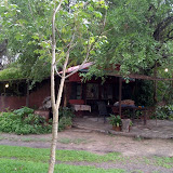 Where we hung out during language week in Shakawe