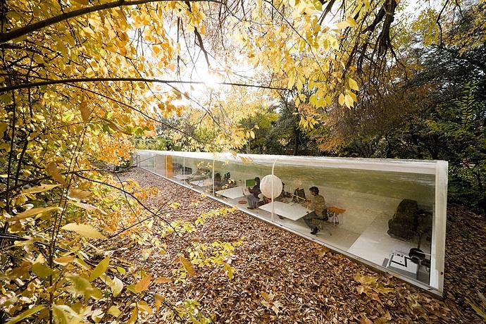 Arquitectura integrada en la naturaleza.