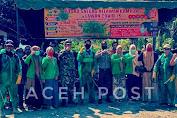 Mahasiswa KKN Unimal Bireuen Bersama TNI/Polri Lakukan Penyemprotan Disinfektan di Desa Bugak Krueng