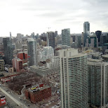view of toronto from the penthouse in Toronto, Ontario, Canada