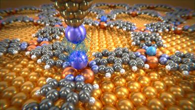 forças Van der Waals entre átomos de xenônio e gás