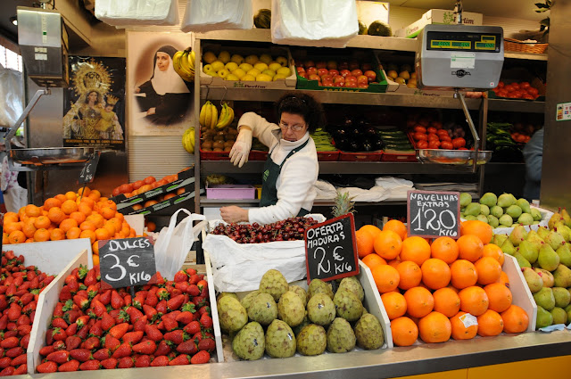 Malaga covered market, spain