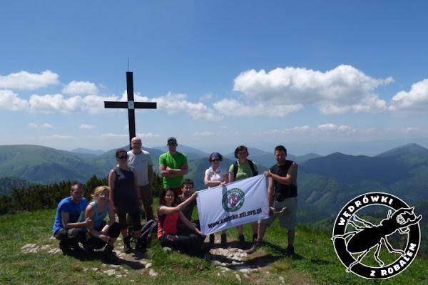 nasza grupa na szczycie Rakytov