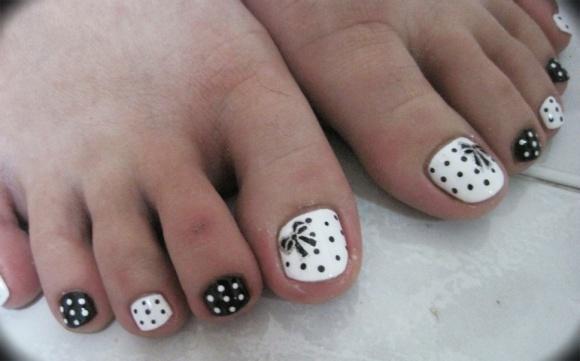 Black And White Toe Nail Designs Ivoiregion