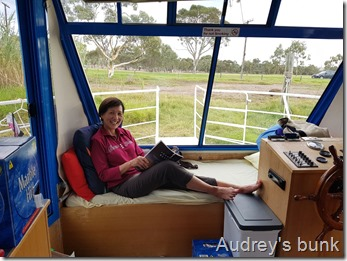Audrey's corner on the houseboat
