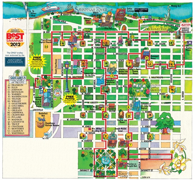 Savannah-Georgia-Tourist-Attractions-Map