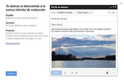 Gmail cambia la forma de redactar e introduce varias novedades