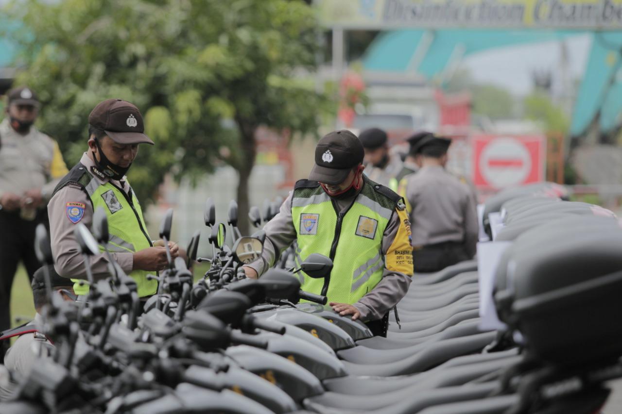 45 Anggota Bhabinkamtibmas Polres Klaten Mendapat Fasilitas Motor Baru