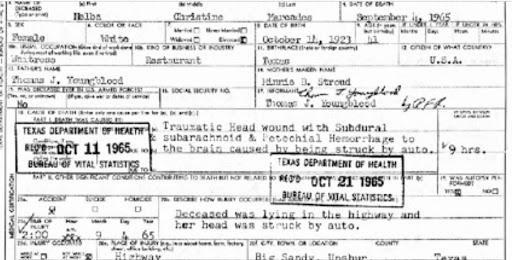 Marcades Death Certificate - cause of death img crp