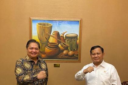 Beredar Foto Prabowo-Airlangga Bertemu, Ini Penjelasan Gerindra