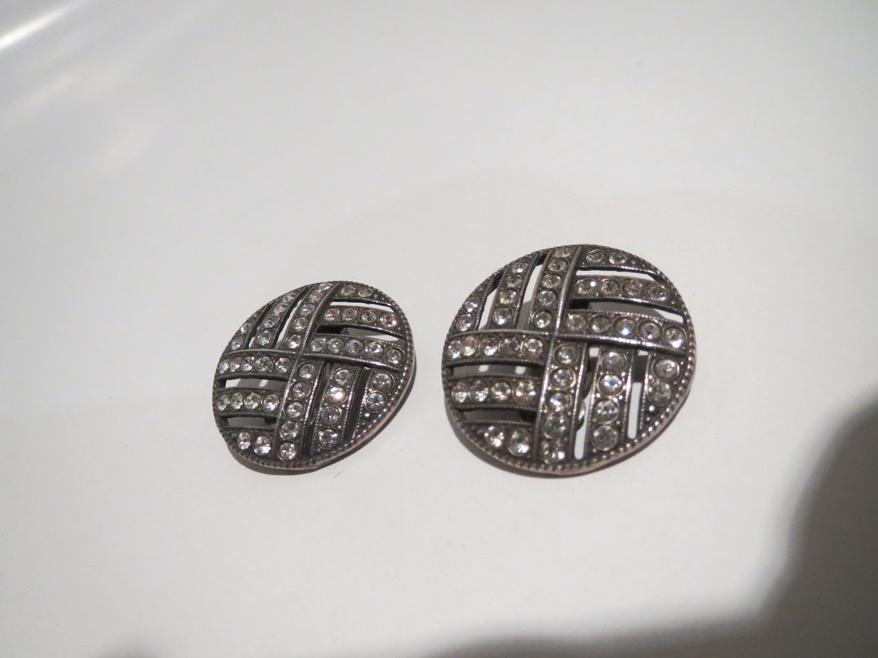 Sterling and Rhinestone Costume Earrings