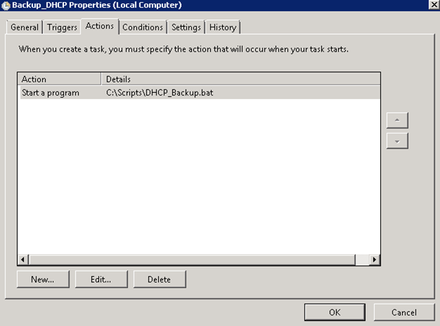 How to Backup DHCP Automatically
