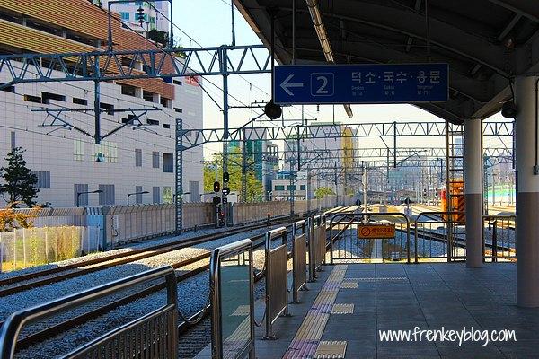 Suasana Stasiun Mangwoo dalam Perjalanan Menuju Gapyeong Station