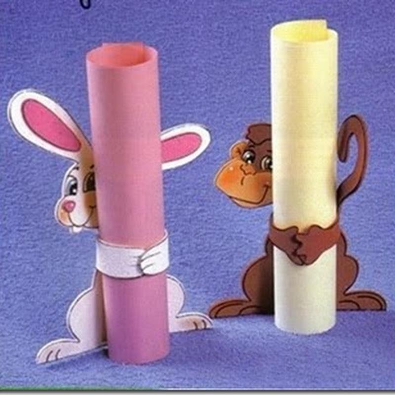 Conejo y mono para sujetar papel