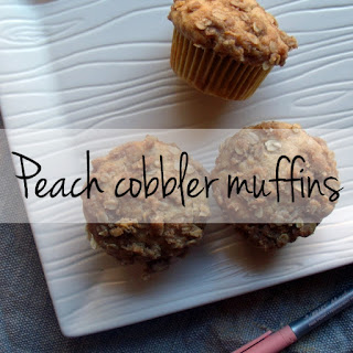 Peach cobbler muffins with #BICMerryMarking