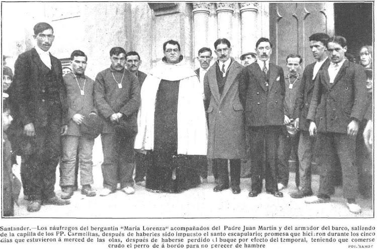 Naufragos del bergantin MARIA LORENZA. Revista Mundo Grafico. Num 328 edicion de 6 de febrero de 1918.tif