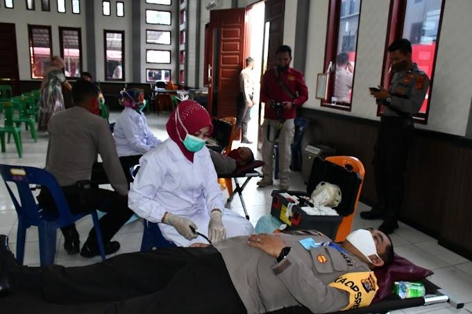 Peringati Hari Bhayangkara ke-74, Polres Aceh Timur Gelar Donor Darah