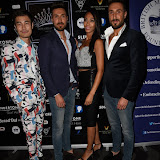 OIC - ENTSIMAGES.COM - Fashion Designer Victor Wong, Toni Alberti, Rachel Christie and John Alberti at the  Miss GB South East pageant at DSTRKT London 18th July 2015 Photo Mobis Photos/OIC 0203 174 1069