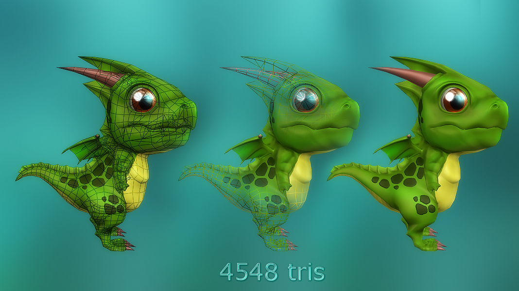 Lowpoly Toon Dragon and more - 50% off 02
