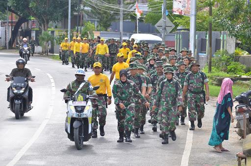 Personel Makorem 141/Tp dan Balak Rem Laksanakan Hanmars