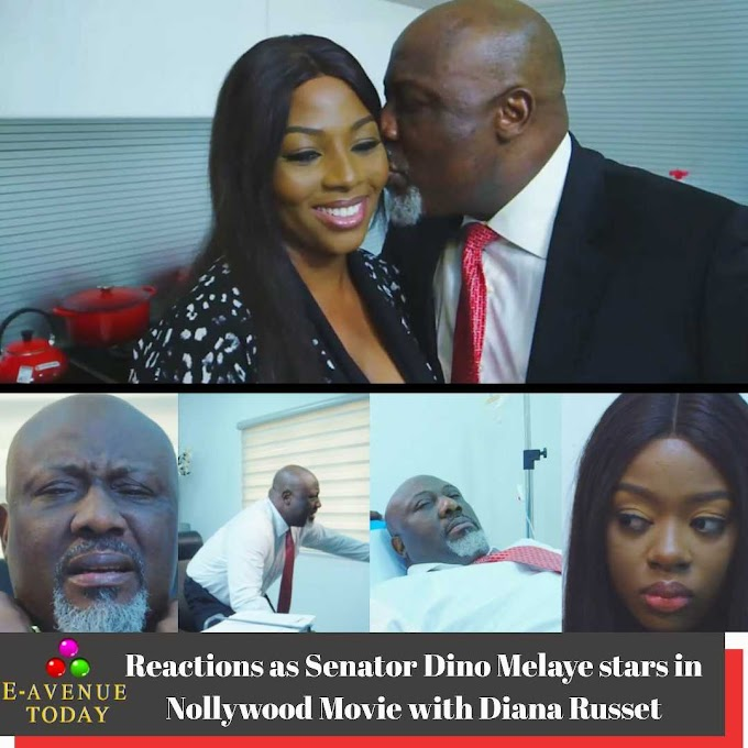 Reactions as Senator Dino Melaye stars in Nollywood Movie with Diana Russet