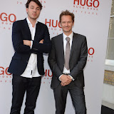 WWW.ENTSIMAGES.COM -   Artist  attending  HUGO: RED NEVER FOLLOWS - private view / party of exhibition to celebrate 20th anniversary of Hugo Boss, featuring the brand's RED NEVER FOLLOWS project which saw it collaborate with 20 'urban creatives' from around the world July 30th 2013                                                     Photo Mobis Photos/OIC 0203 174 1069