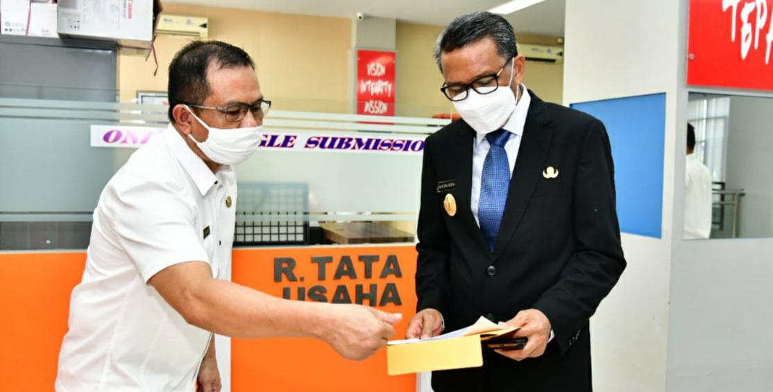 Gubernur Nurdin Abdullah Sidak Pelayanan di PTSP