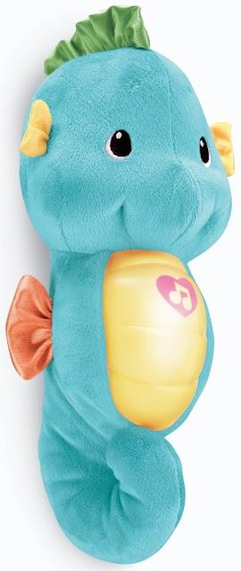 Cá ngựa ru ngủ màu xanh Fisher-Price Seahorse đáng yêu