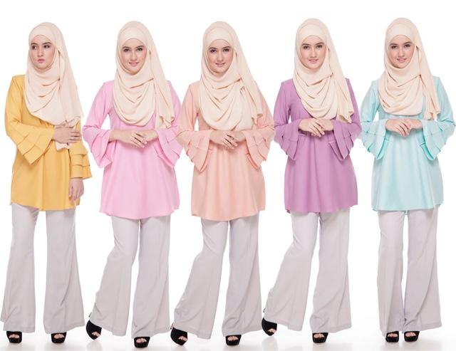 blouse muslimah, blouse murah, Norie Signature