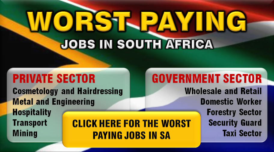 Worst Paying Jobs in South Africa