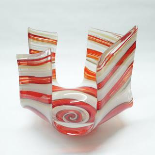 James Hayer  Abstract Art Glass Bowl