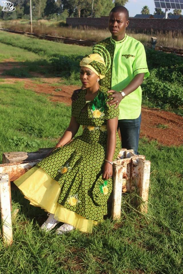 top green shweshwe dresses