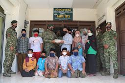 Bakti Sosial Yonif MR 411/Pandawa Dalam Rangka HUT ke-60 Kostrad di LKSA Darul Ulya