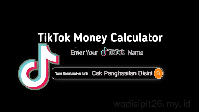 Tiktok money calculator hitung pendapatan dari tiktok dengan mudah