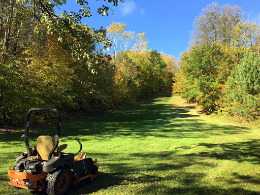 Fall grooming on Suicide Hill. Will continue to clear leaves here up until the snow flies for earliest season skiing
