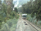 Subida en funicular a la montaña de Monserrat