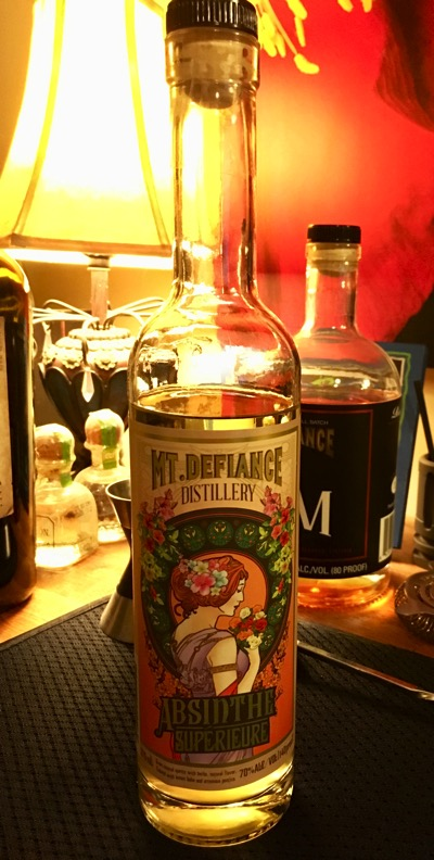 A bottle of absinthe