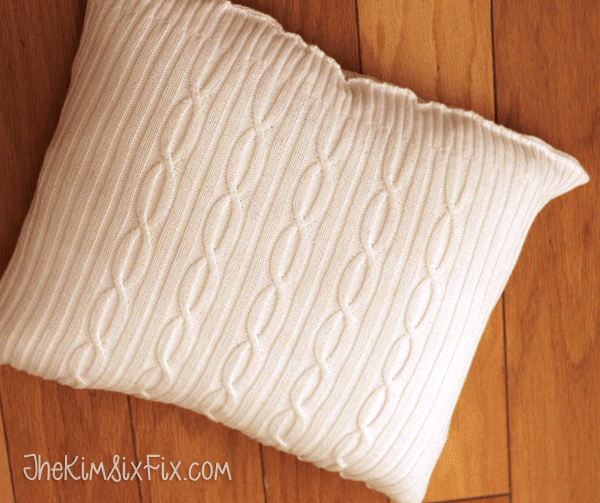 DIY Cable Knit Sweater pillow