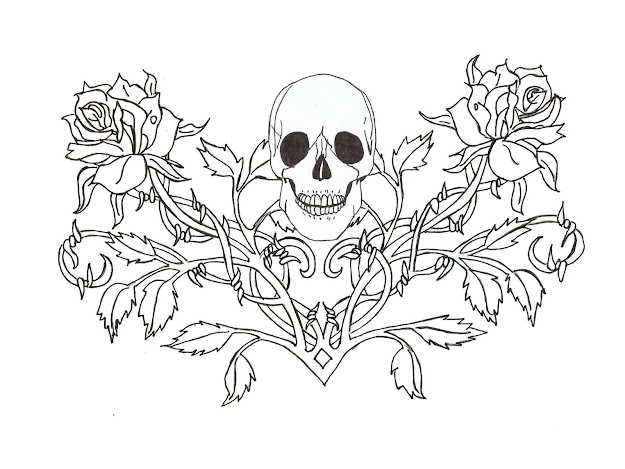 Dress Free Printable Rose Coloring Pages