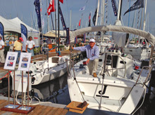 J/70 and J/108 cruiser at St Petersburg Boat Show