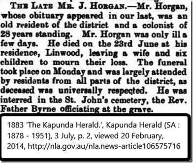 Horgan John 1883 funeral report