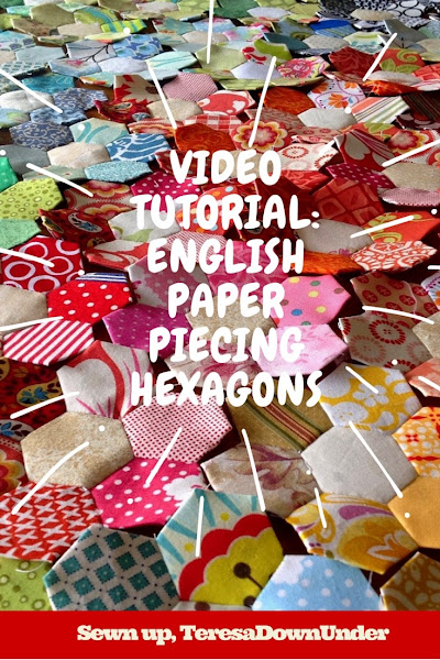English paper piecing (EPP) hexagons