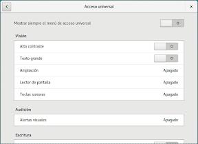 Configurar el sistema. Accesibilidad en Linux y otros. Portada. Acceso Universal 2.