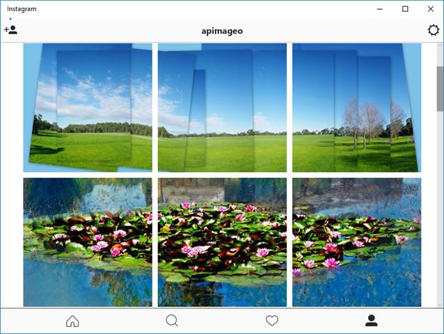 My main photo screen in Instragram