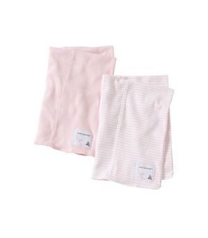burts bees pink burp cloths