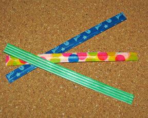 washi tape twist wires photo