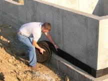 Drainguard Strip Drain Foundation Water Drainage Applied