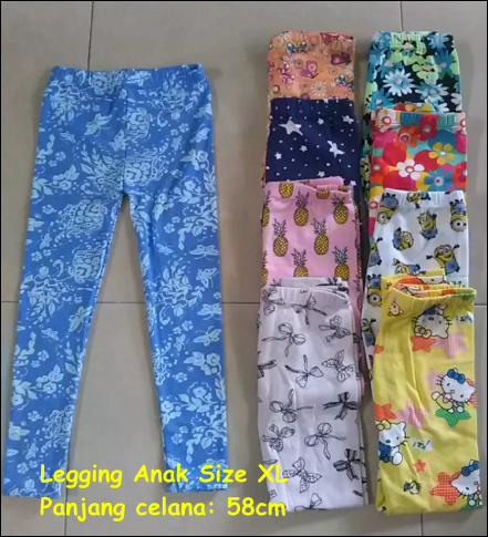 Legging Anak Murah Size XL real